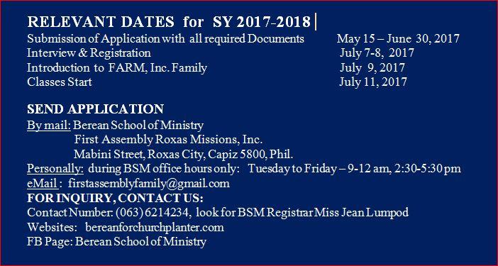 bsm dates sdy2017-18